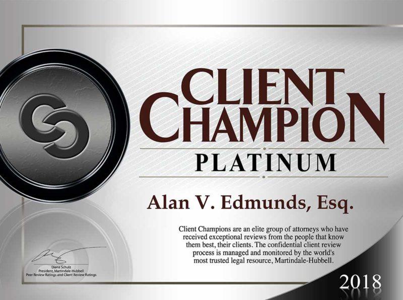 Alan Edmunds Client Champion